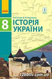ГДЗ Історія України 8 клас Гісем Мартинюк 2016